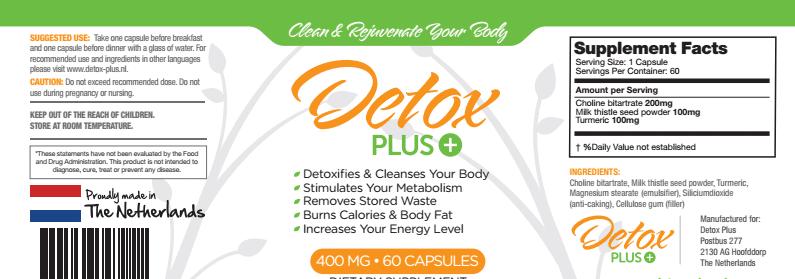 detox plus etiket 2healthfreaks