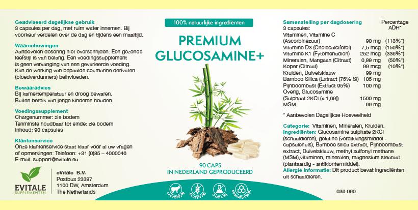 Premium Glucosamine+ supplement