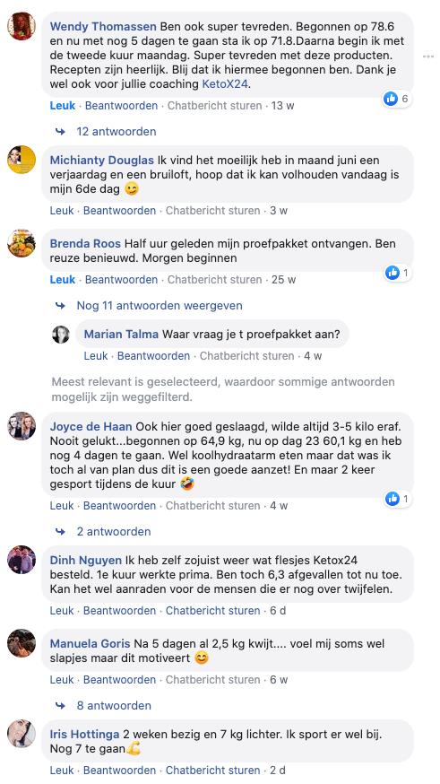ketox24 facebook ervaringen echt